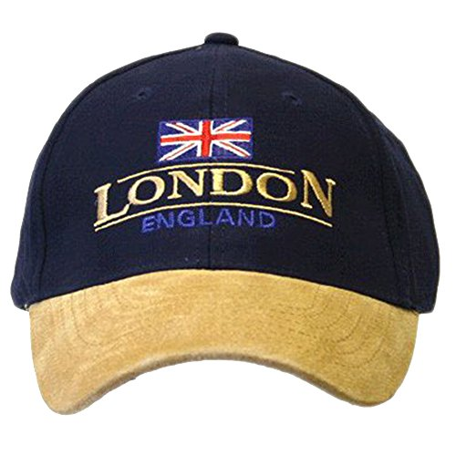 England London Baseball Cap Suede Cap with Adjustable...