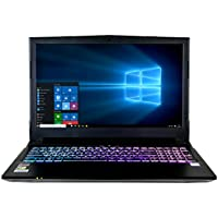 CUK N850VR 15.6 Gamer Ready Notebook (Intel i7-7700HQ, 32GB RAM, 512GB NVMe SSD + 1TB HDD, NVIDIA GTX 1060 6GB) - Windows 10 VR Gaming Laptop Computer