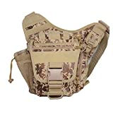 Mini Crossbody Molle Pouch Waterproof Camping Hiking Bags Sport Bag Outdoor Military Backpack Durable Rifle Bag (Desert digital)