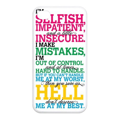 Fayruz- Marilyn Monroe Quotes Protective Hard TPU Rubber Cover Case for iPhone 4 / 4S Phone Cases A-i4K536