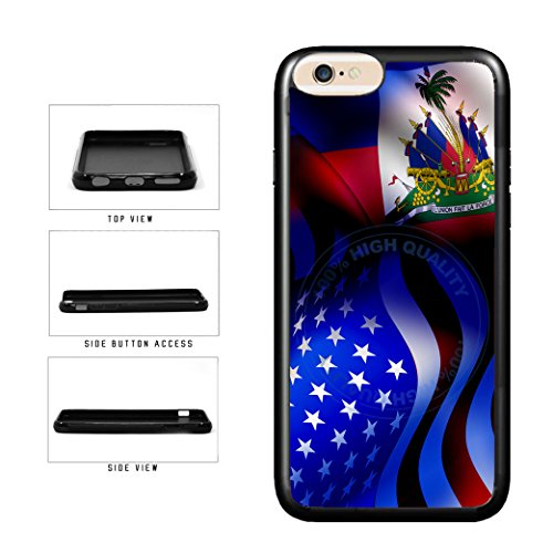 - BleuReign(TM) Haiti And USA Mixed Flag TPU RUBBER Phone Case Back Cover For Apple iPhone 8 Plus and iPhone 7 Plus