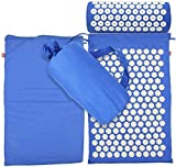 HLM- Yoga Mat Acupressure Mat Massage Mat and Pillow Set Yoga Mat Relieve Back Neck and Sciatic Pain Relax Muscles Relieve,