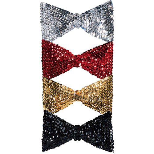 [Sequin Bowtie Bow Tie Clown Dance Costume Accessory] (Military Style Dance Costumes)