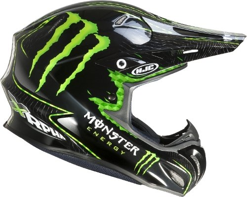 Amazon.es: HJC Cross Casco r-pha X Nat Adams Monster MC de 5 Negro Talla L (59/60)