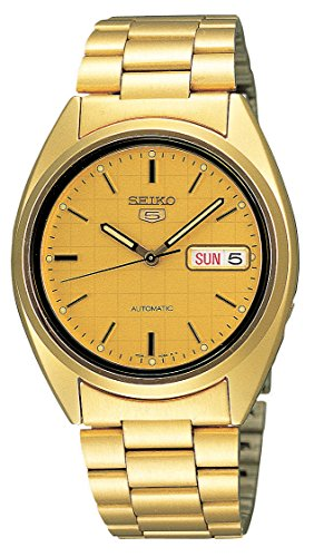 Seiko-Mens-SNXL72-Seiko-5-Automatic-Gold-Tone-Stainless-Steel-Bracelet-Watch-with-Patterned-Dial
