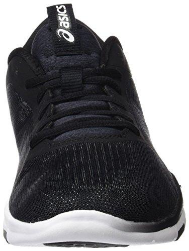 Femme Chaussures Gel Asics De Tempo fit white Noir Tennis Multicolore 3 black silver H6wq0