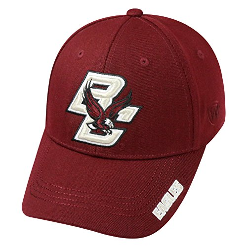 - Top of the World NCAA-Premium Collection-One-Fit-Memory Fit-Hat Cap-Boston College Eagles