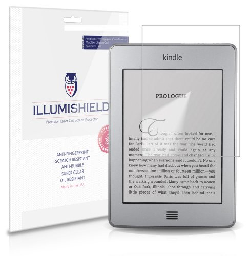 iLLumiShield Screen Protector Compatible with Amazon Kindle (2011 4th Gen)(6 inch E Ink Display Wi-Fi)(3-Pack) Clear HD Shield Anti-Bubble and Anti-Fingerprint PET Film