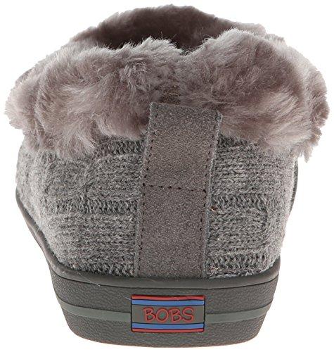 Skechers Mad Crush Snuggle In - Zapatillas de Estar Por Casa de otras pieles mujer Charcoal Knit