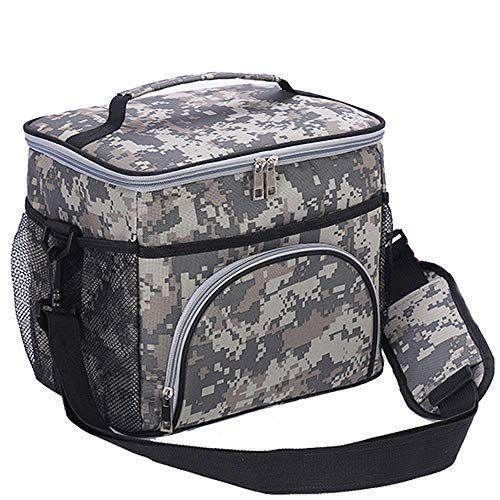 - HMQINYI Large Thermal Lunch Box For Man Camouflage Insulated Lunch Bags For Adults With Shoulder Strap Pretty Picnic Cooler Bag 18-cans (CAMO)