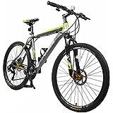 "Merax Finiss 26"" Aluminum 21 Speed Mountain Bike with Disc Brakes"