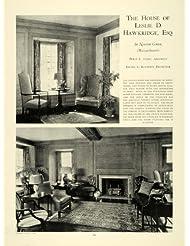 1927 Article Leslie D. Hawkridge Home Massachusetts - Original Print Article