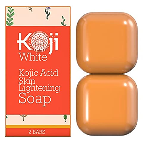 Pure Kojic Acid Skin Lightening Soap ( 2.82 oz / 2 Bars ) - Naturally Whitening for Tone Adjustment & Bleaching Skin - Remove Freckles, Fade Age Spots, Anti-aging, Acne Scars, Sun Spots - Adjustment Block