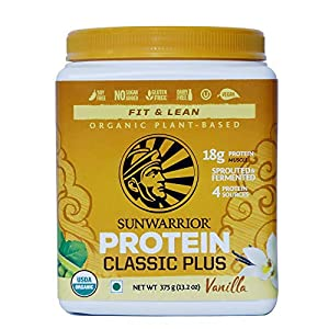 Sunwarrior – Classic Plus 375 g, Vanilla, Gluten Free, Vegan, Plant-based, Protein Powder with Pea and Brown Rice