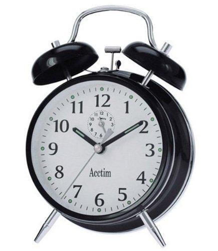 Acctim 12623 Saxon Black Alarm Clock