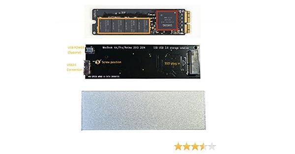 Carcasa externa de Macbook Air Pro Retina 2013, 2014, SSD, USB 3.0 ...