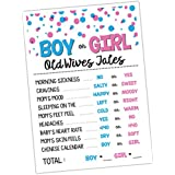 Katie Doodle GR004 Premium Baby Old Wives Tales Poster, Pregnancy Gender Reveal Party Decoration and Accessories for Boys and Girls, 12x18 inches, White