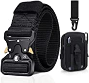 BESTKEE Men Tactical Belt 1.5 Inch Heavy Duty Belt, Nylon Military Style with Quick-Release Metal Buckle