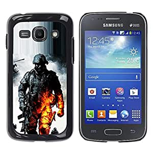 Paccase / SLIM PC / Aliminium Casa Carcasa Funda Case Cover - Soldier Bttlefield - Samsung Galaxy Ace 3 GT-S7270 GT-S7275 GT-S7272