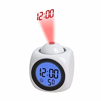 geelyda inteligente LCD Digital de silicona reloj despertador con luz nocturna funciona con pilas con fecha