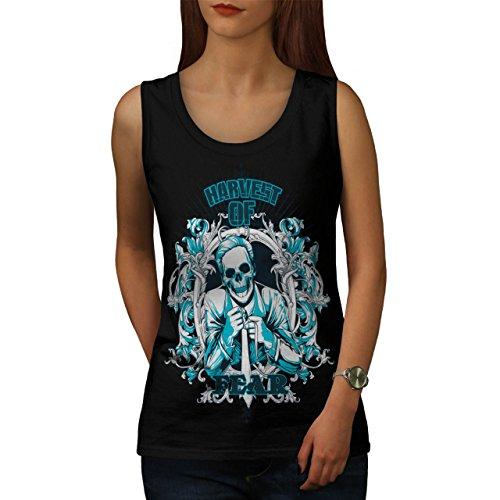 Harvest Of Fear Boss Skull Suit Women NEW L Tank Top | Wellcoda (Mob Boss Tie)