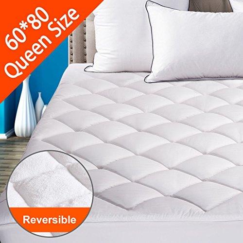 Reversible Mattress Pad Cover Queen Summer Cooling