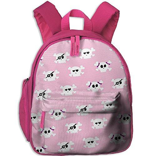 Halloween Girly Skulls Girly Wallpaper Kids School Backpack Cool Children Bookbag Adjustable Shoulder Straps Bag (Girly Halloween Wallpaper)
