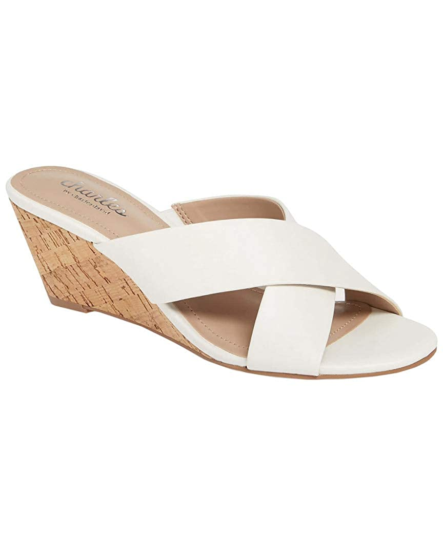 White Charles by Charles David Womens Grady Wedge Sandal