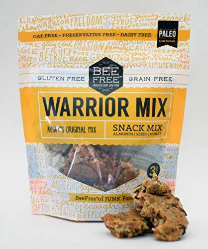 BeeFree Warrior Mix Granola | Gluten Free, Grain Free, Paleo, Auggys Original Mix, 3 Ounce Bag