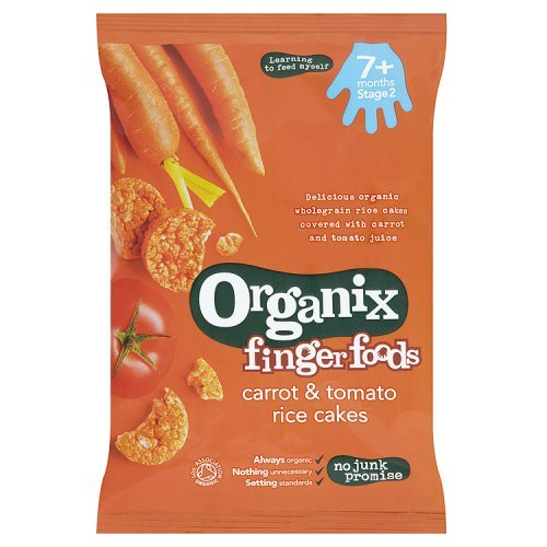 Organix Finger Foods Carrot and Tomato Rice Cakes, 50g B007D2C0MO