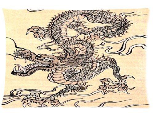 De moda y diseño divertido con diseño de dragón chino de almohada ...