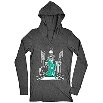 Gone For a Run Women's Lightweight Performance Hoodie NYC 13.1 Liberty (No Date) SM Gray