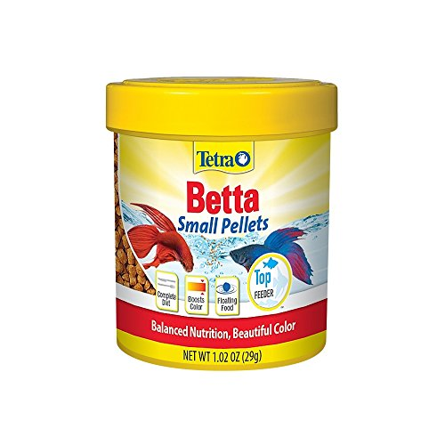 TetraBetta Floating Mini Pellets for Bettas, 1.02 oz Brine Shrimp Algae