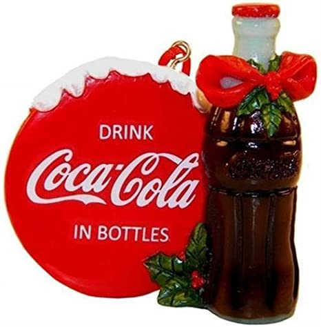 Coca Cola Botella De Decoración De árbol De Día Festivo Y Cartel Con Holly Producto Con Licencia Home Kitchen
