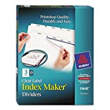 AVE11445 - Avery Index Maker Clear Label Dividers