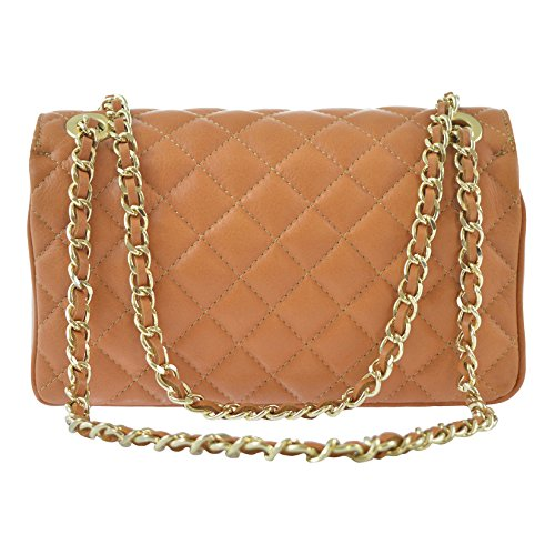 body Bag Quilted In Woman's Leather 27x17x9 Ctm Made D6078 Cm Cross Italy Elegant Genuine 0qxtWwIa