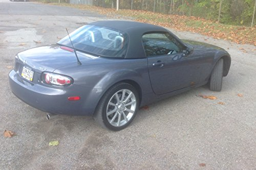 Smooth Line - MAZDA MIATA 2006-15 -Removable Hardtop for Convertible with Black Vinyl Exterior and Tinted Plexiglas Window - MADE IN USA