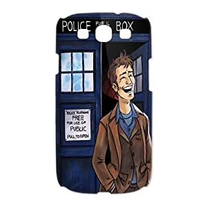 Doctor Who Tardis Police Box Galaxy S3 Case Hard Plastic Doctor Who SamSung Galaxy S3 I9300/I9308/I939 Cover HD Image Snap ON