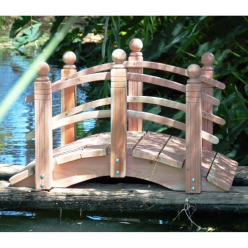 4 ft. Curved Double Rail Span Bridge (Curved Double Rail Sealed w - Double Rail Garden Bridge