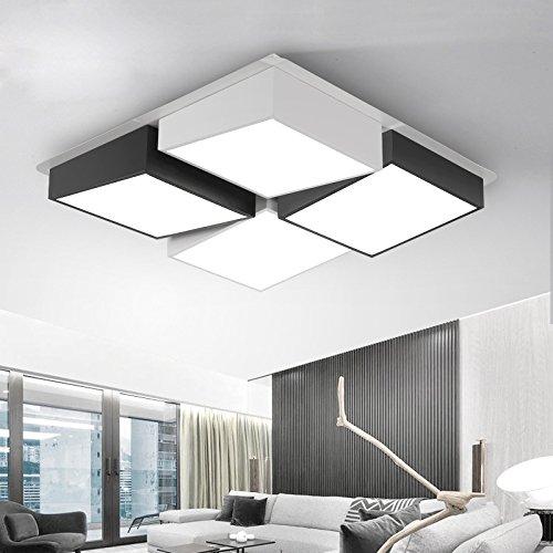 Cttsb Simple moderno salón moderno salón simples luces led luces de techo habitación rectangular de luz
