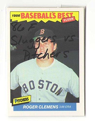 (1986 Fleer Sluggers vs Pitchers BOSTON RED SOX Team Set)