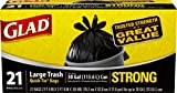 Glad Strong Quick-Tie Large Trash Bags – 30 gallons – 21 ct