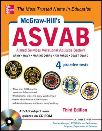 McGraw-Hill's ASVAB with CD-ROM, 3rd Edition: Strategies + Quizzes + 4 Practice Tests