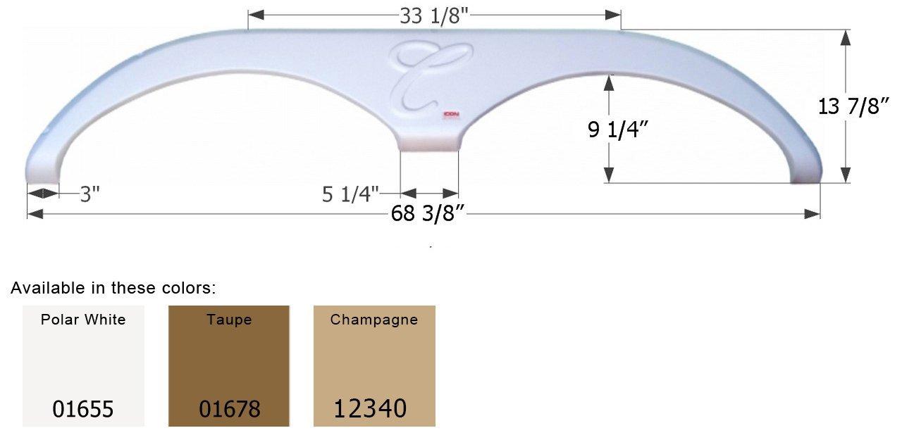 ICON 01655 Fender Skirt