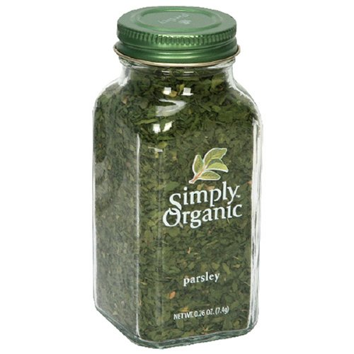 Simply Organic Parsley Flakes Cut & Sifted Certified Organic, 0.26 Ounce Containers (Pack of 6)