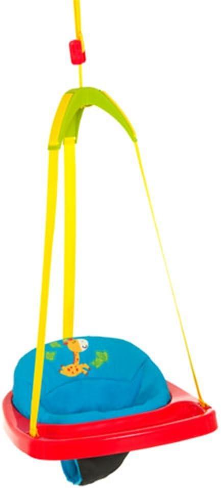 Hauck Jump - Columpio interior Baby, a partir de 6 meses, regulable en altura, cinchas para amarrar, sin taladrar agujeros, Jungle Fun (colorido)