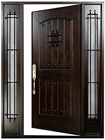 Knotty Alder12 36x80 Exterior Front Entry Door Solid Wood With