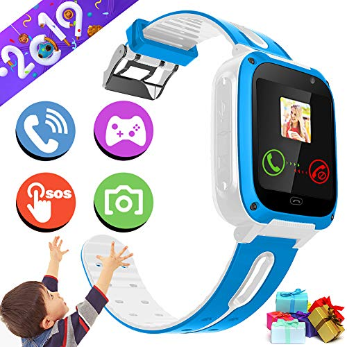 Kidaily Smart Watch Phone for Kids Boys Girls - Kids Game Watch Phone with SOS Camera Alarm Clock Touch Screen Cellphone Watch Digital Wrist Bracelet Outdoor for Holiday Birthday Gift