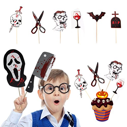 (Halloween Horror Decorations Garland Zombie Skull Skeleton Bloody Ornaments Layout Spiral Photo Props Spoof Party Hanging Letter Banner (Photo Props))