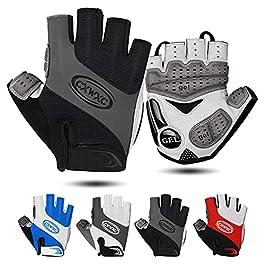 CXWXC Cycling Gloves for Men Women – Breathable Gel Road Mountain Bike Riding Gloves – Anti-Slip Half Finger Glove for…